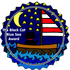 black-cat-blue-sea-award