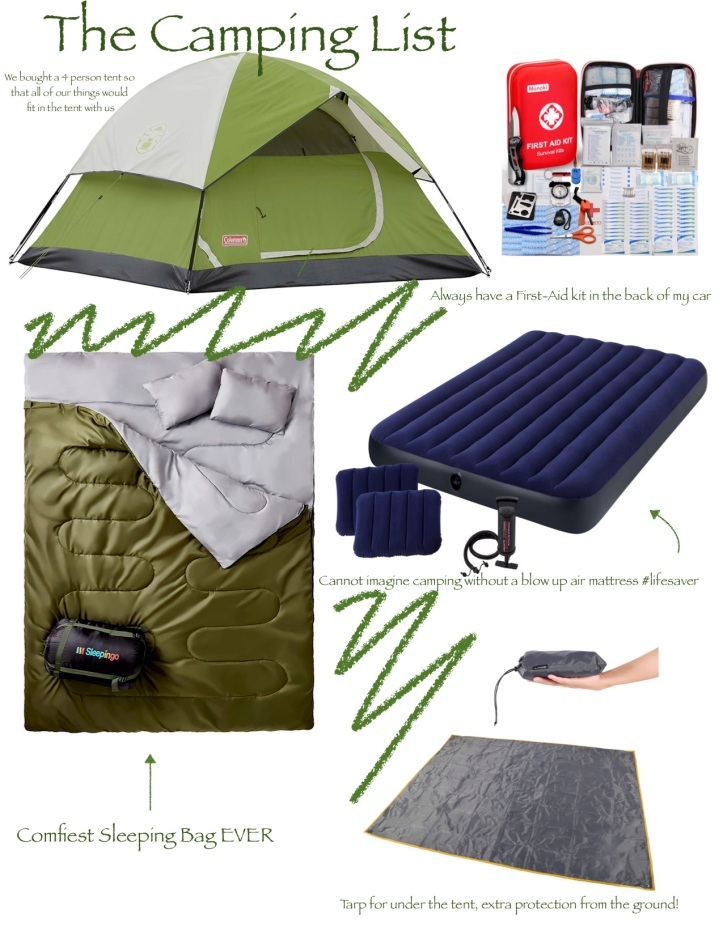 camping packing 1